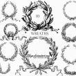 10种欧式复古风格的花环图案Photoshop笔刷下载