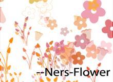 可爱简单的花花草草图案Photoshop笔刷下载