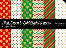 6种圣诞节背景风格图片Photoshop填充图案文件底纹素材(JPG图片格式)