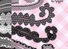 蕾丝边式花纹图案sut笔刷CLIP STUDIO PAINT 画笔下载