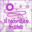 16种线条、圆点效果装饰Photoshop照片装饰笔刷素材下载