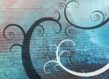 魔幻漩涡式枝条花纹图案Photoshop照片美图笔刷