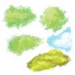 自然植物绘画风格笔触PS插画笔刷素材