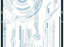 超时代机械城元素装饰、电路板图像Photoshop笔刷素材下载