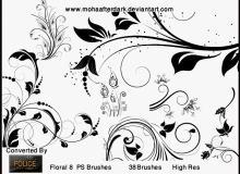 手绘欧式印花花纹笔刷Photoshop植物花纹笔刷