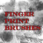 人体指纹、手指指印、手印纹理Photoshop笔刷下载
