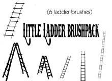 6种梯子造型图案Photoshop笔刷下载
