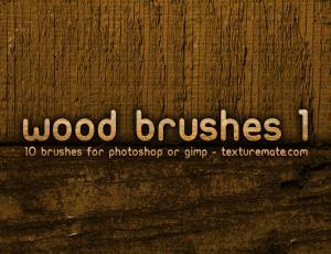 10种高清分辨率木材纹理图案Photoshop笔刷下载