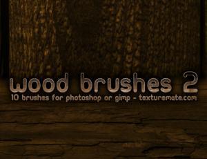 木板、木材纹理图案Photoshop材质笔刷
