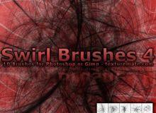 10种混乱光线线条纹理图案Photoshop笔刷下载