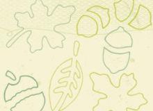 10种手绘线框植物叶子、橡树果实等图形Photoshop笔刷下载