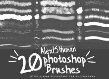 20种免费高清画笔Photoshop笔刷素材下载