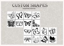 手绘涂鸦式蝴蝶花纹图案photoshop自定义形状素材 .csh 下载