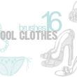16种高跟鞋、内裤、想了、包包等女性元素图案装扮PS笔刷下载