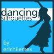 优雅的芭蕾舞人像剪影图形Photoshop笔刷素材下载