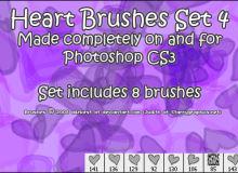 8种可爱的爱心图案Photoshop美图笔刷素材下载