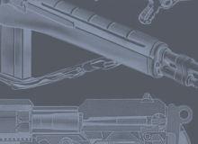 22种机枪、手枪、步枪等Photoshop枪械笔刷素材下载