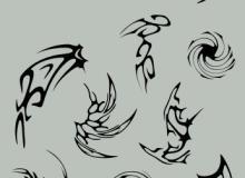 非主流形象化刺青、纹饰图案Photoshop笔刷下载