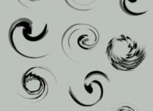 漩涡图案Photoshop纹饰笔刷素材下载