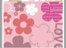 可爱童趣小红花朵图案PS印花笔刷素材