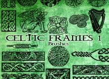 来自远古时代的凯尔特古典花纹图案Photoshop笔刷下载