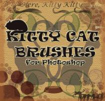 猫咪图案花纹装饰Photoshop装饰性笔刷素材