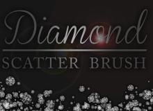 钻石散射图像背景装饰Photoshop笔刷下载