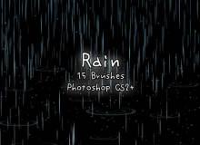模拟下雨背景效果Photoshop小雨背景笔刷素材