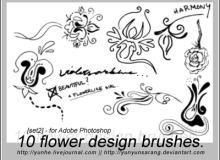 10种手绘涂鸦风格的印花艺术图案PS印花笔刷下载