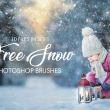 10种免费的雪景、下雪背景Photoshop笔刷素材