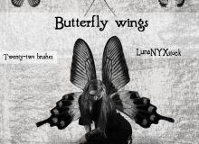 蝴蝶翅膀图形Photoshop蝴蝶笔刷素材