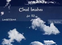 高清白云、云彩、云层素材PS笔刷下载