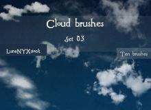 万里晴空、天空云朵纹理PS笔刷下载