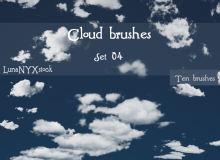 天空云彩背景PS笔刷素材下载