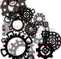 齿轮式风格的印花图案PS笔刷下载