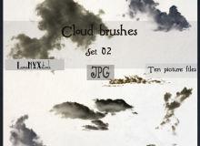 真实的天空白云、云朵图形Photoshop笔刷素材下载(JPG图片格式)