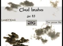 高空白云素材PS笔刷(JPG图片格式)