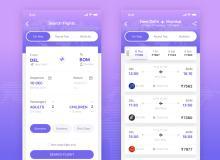 航空公司App模板 – 界面设计素材 Sketch App模板下载