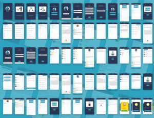 一整套员工管理系统 手机APP模板素材 – Sketch 模板设计素材下载