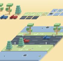像素风格式等比街道、景观图 – Sketch 模板设计素材下载