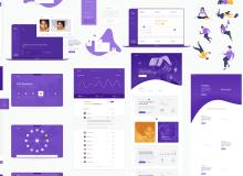 一整套商业主题网页模板 – Sketch 设计素材