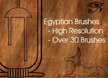 古埃及文明的装饰图案Photoshop笔刷下载