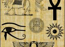 埃及文化图形素材Photoshop装饰笔刷