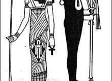 古埃及法老图形、埃及文化印花图案Photoshop笔刷下载