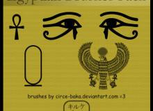 埃及风格的图案装饰Photoshop笔刷下载