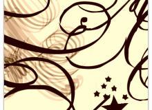 漩涡线条图形素材PS笔刷下载