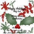 圣诞节叶子装饰图案花纹Photoshop圣诞节笔刷