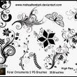 漂亮的植物艺术系印花图案Photoshop笔刷下载