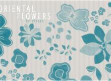 鲜花花朵图案素材PS笔刷文件下载