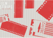 电影胶片纹理图案素材PS笔刷免费下载